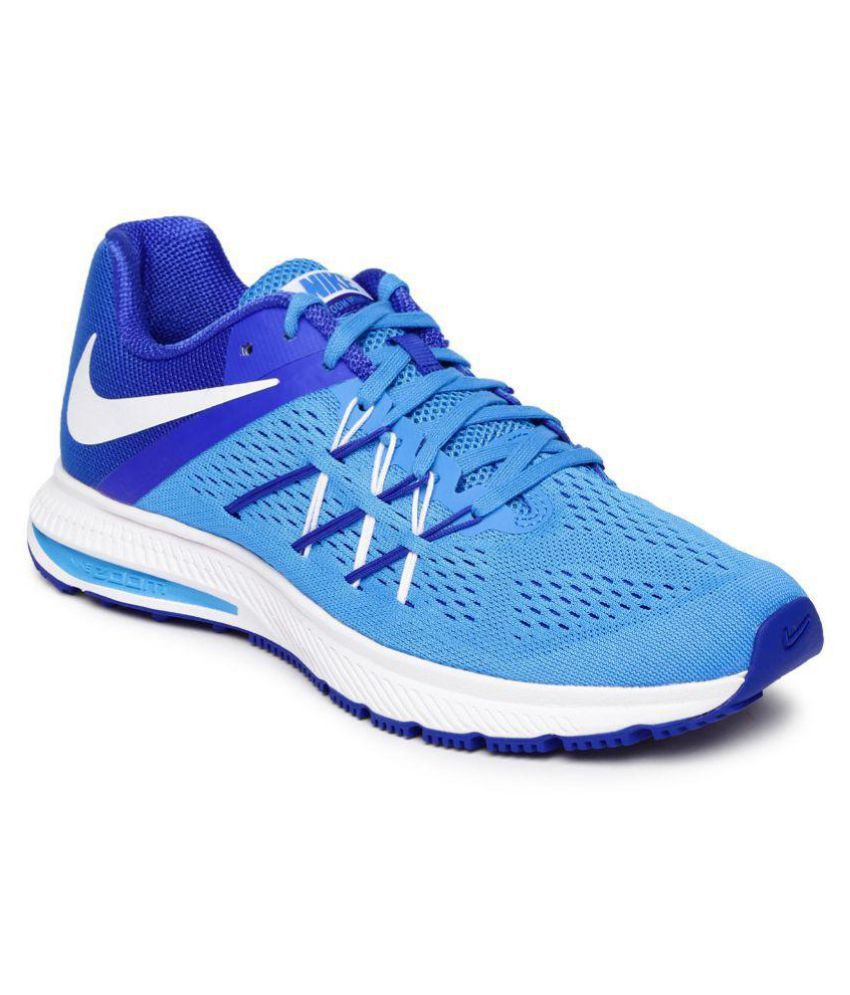 ae800691126a Nike Zoom Winflo 3 Blue Running Shoes - Buy Nike Zoom Winflo 3 Blue Running  Shoes Online at Best Prices in India on Snapdeal