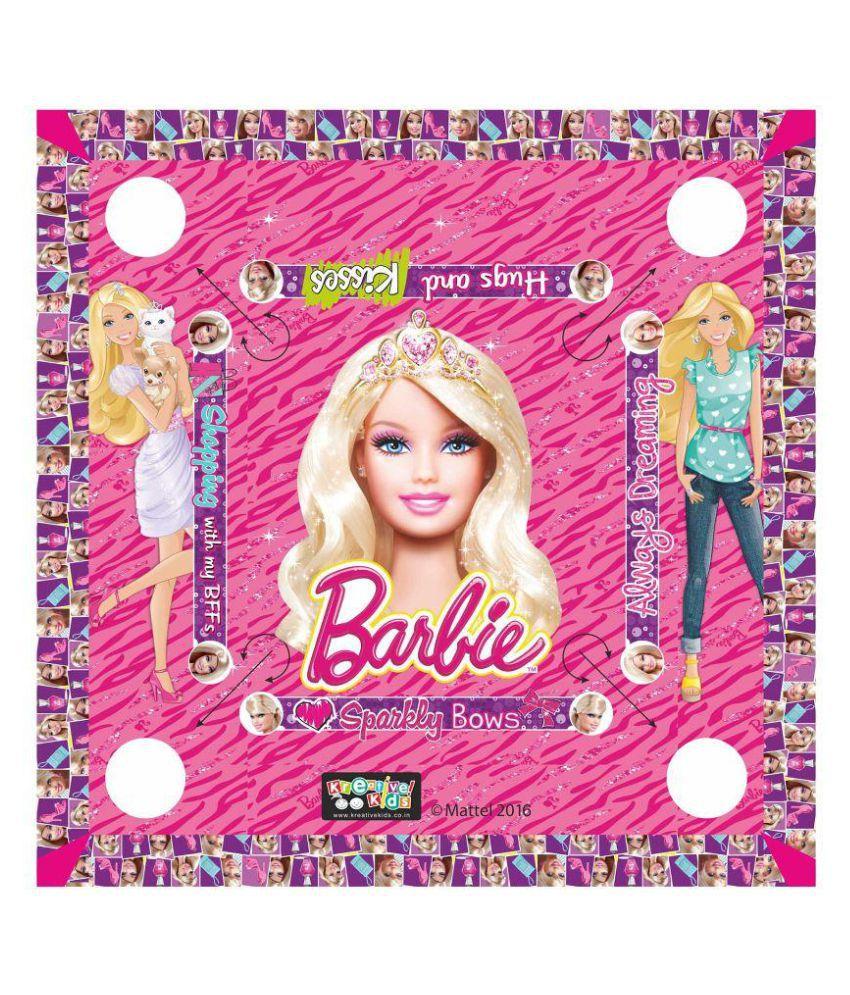 Barbie Multicolour Carom Board Set