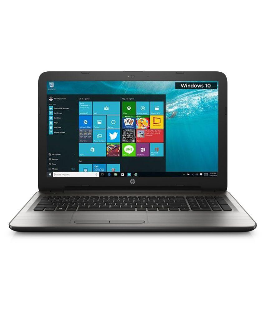 HP 15 bg001AU Notebook (X1G76PA) (AMD APU A8- 4GB RAM- 500GB HDD- 39.62 cm (15.6)- Windows 10) (Silver)