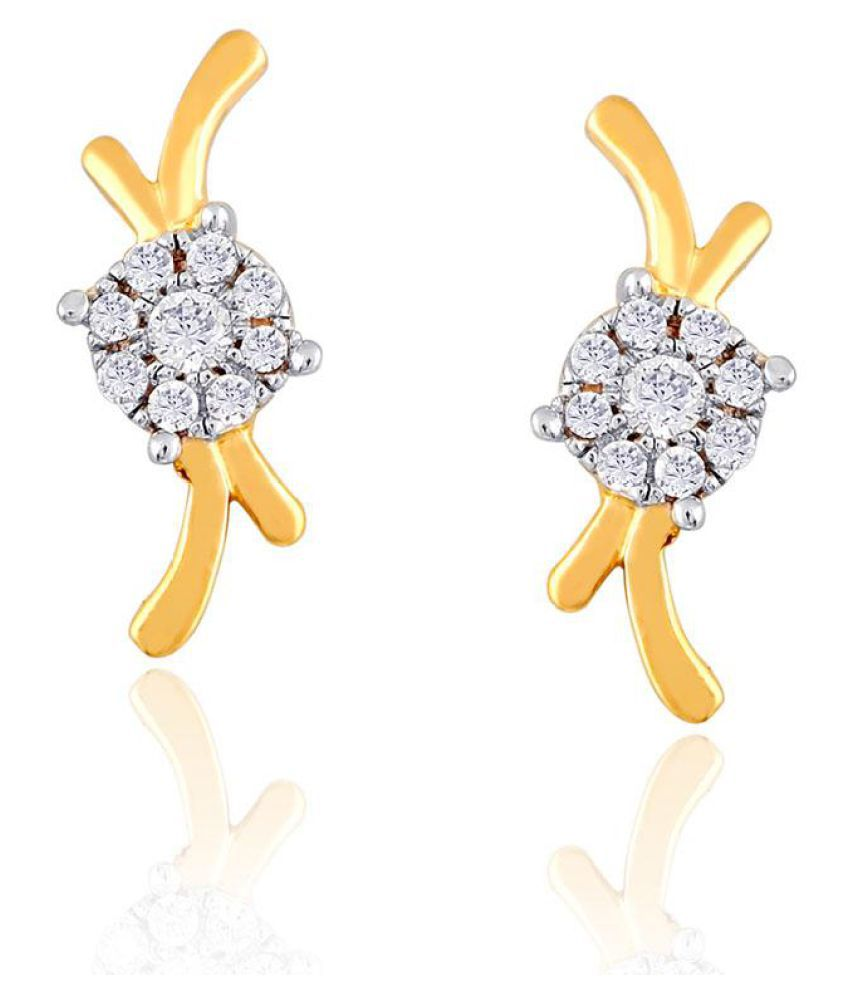 Nirvana 18k BIS Hallmarked Yellow Gold Diamond Studs