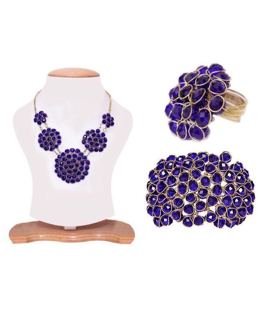 Samyam Blue Necklace Set Combo