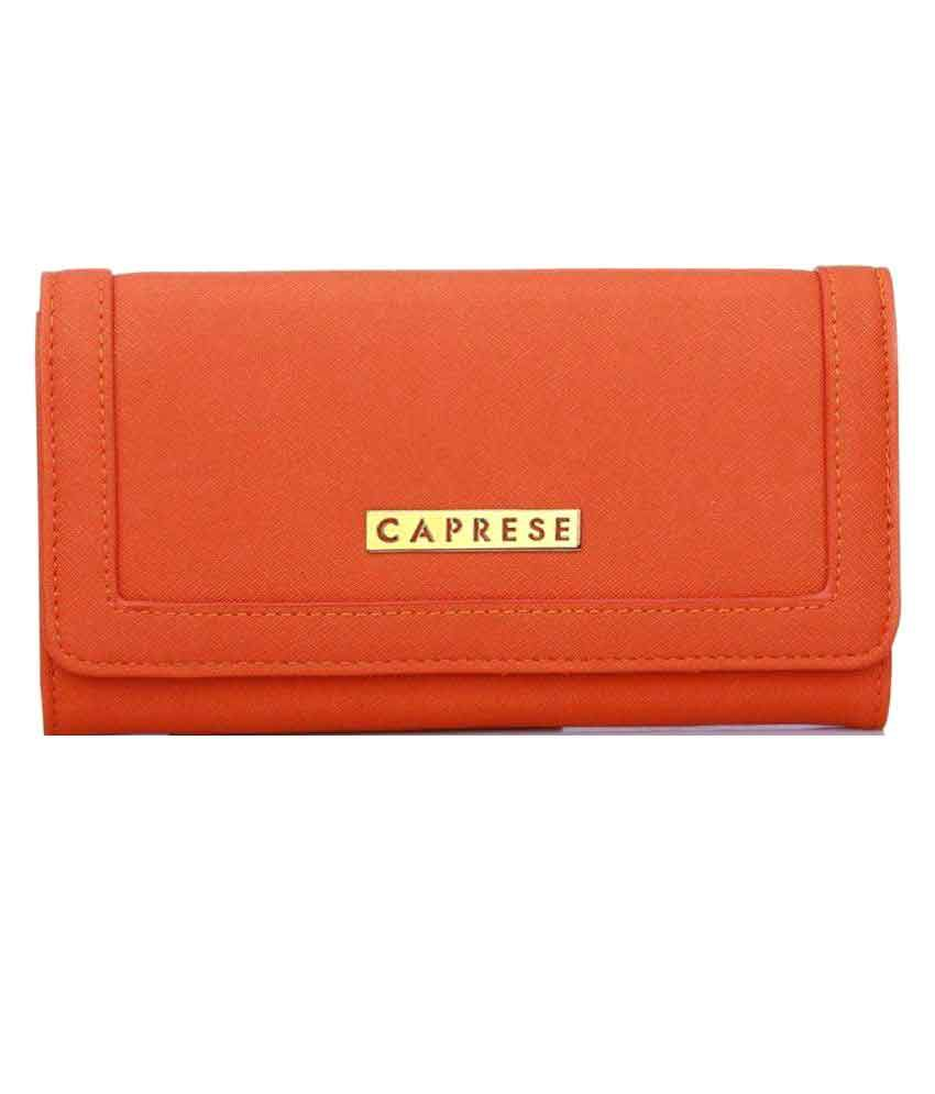 Caprese Orange Wallet