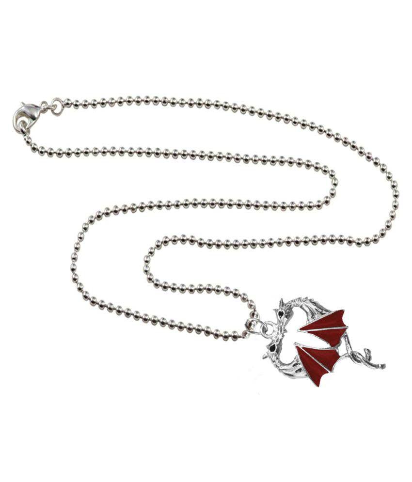 Mens Jewell Silver Red  Batman Fashion  Pendant