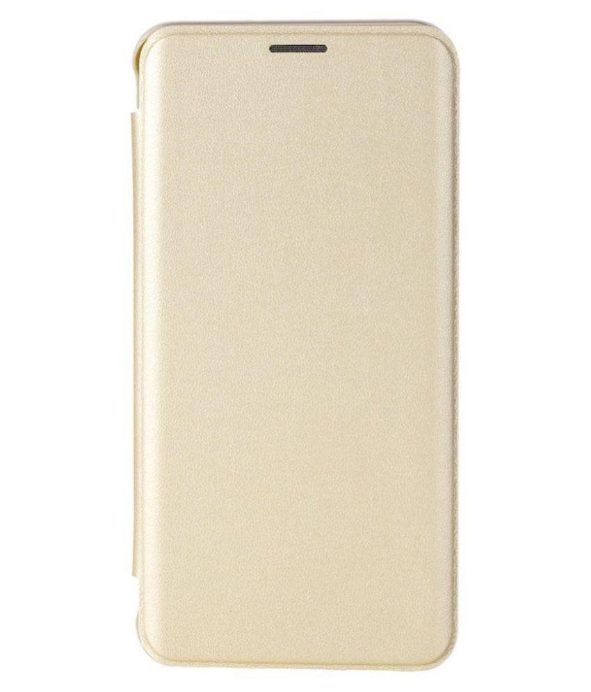 hot sales f1110 cb803 Samsung Galaxy J7 Prime Full Leather Flip Cover by Karshni - Golden
