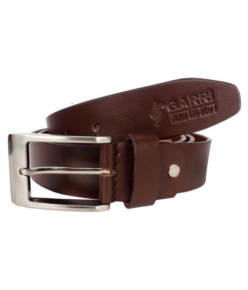 Garri Brown Leather Formal Belts