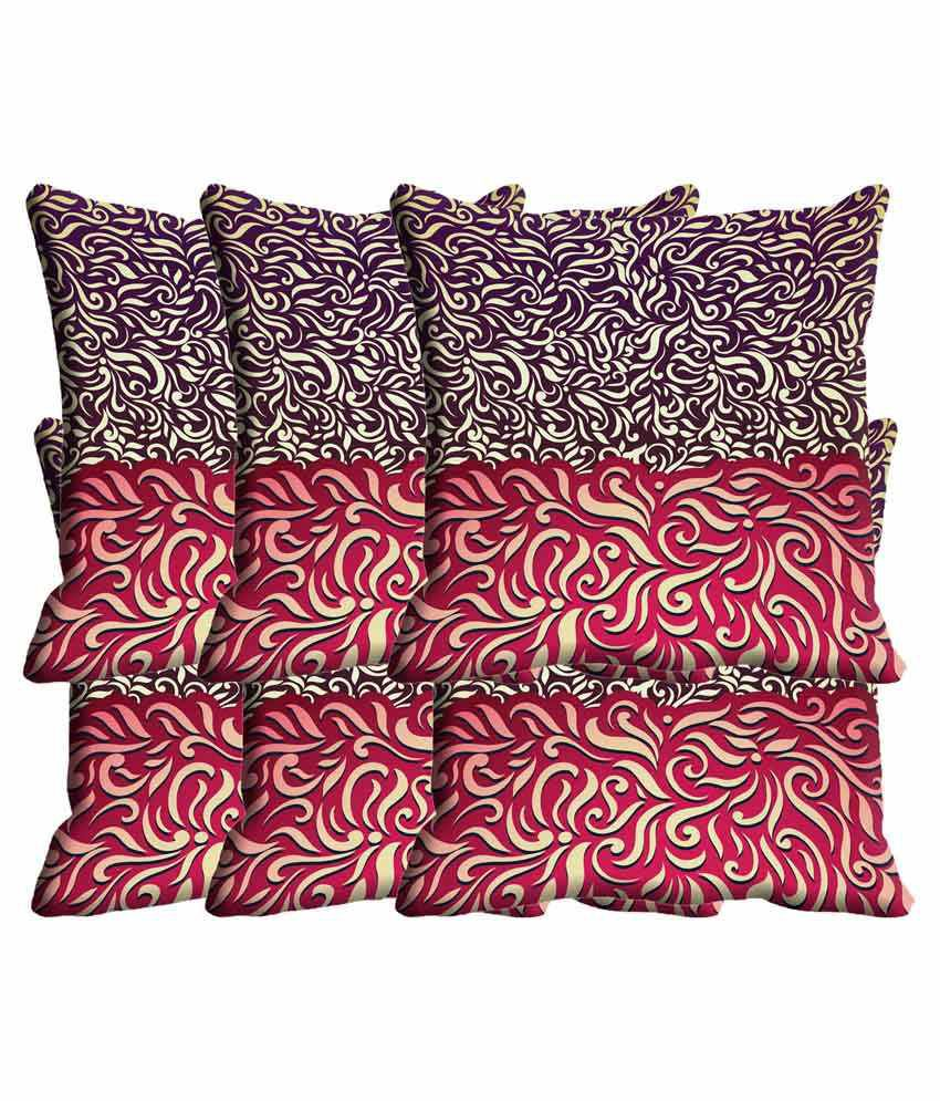 IndiWeaves Set of 6 Polyester Cushion Covers