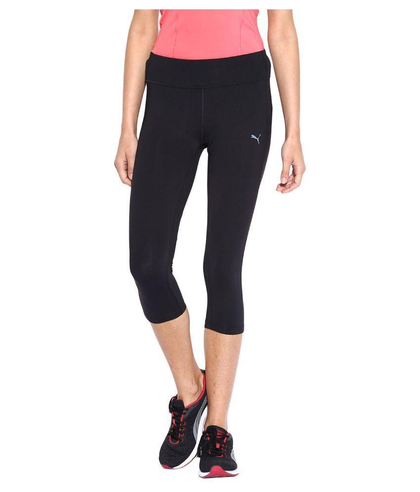 Puma Womens Black WT Essential Tights