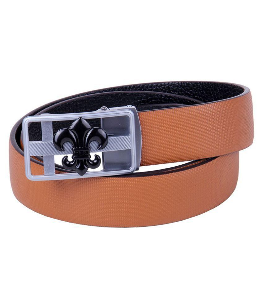 Black Buck Brown Leather Casual Belts