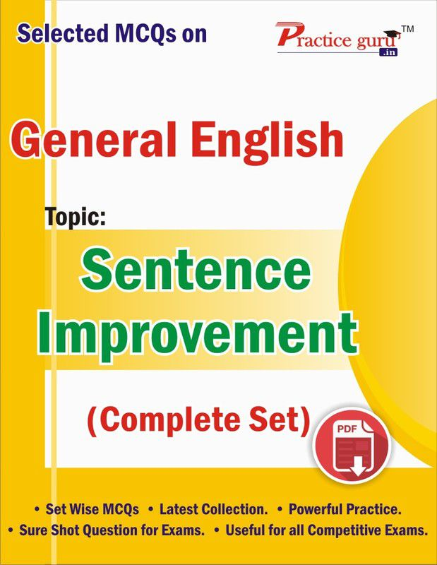 Selected MCQs on English - Sentence Improvement (Complete Set) Downloadable  Content