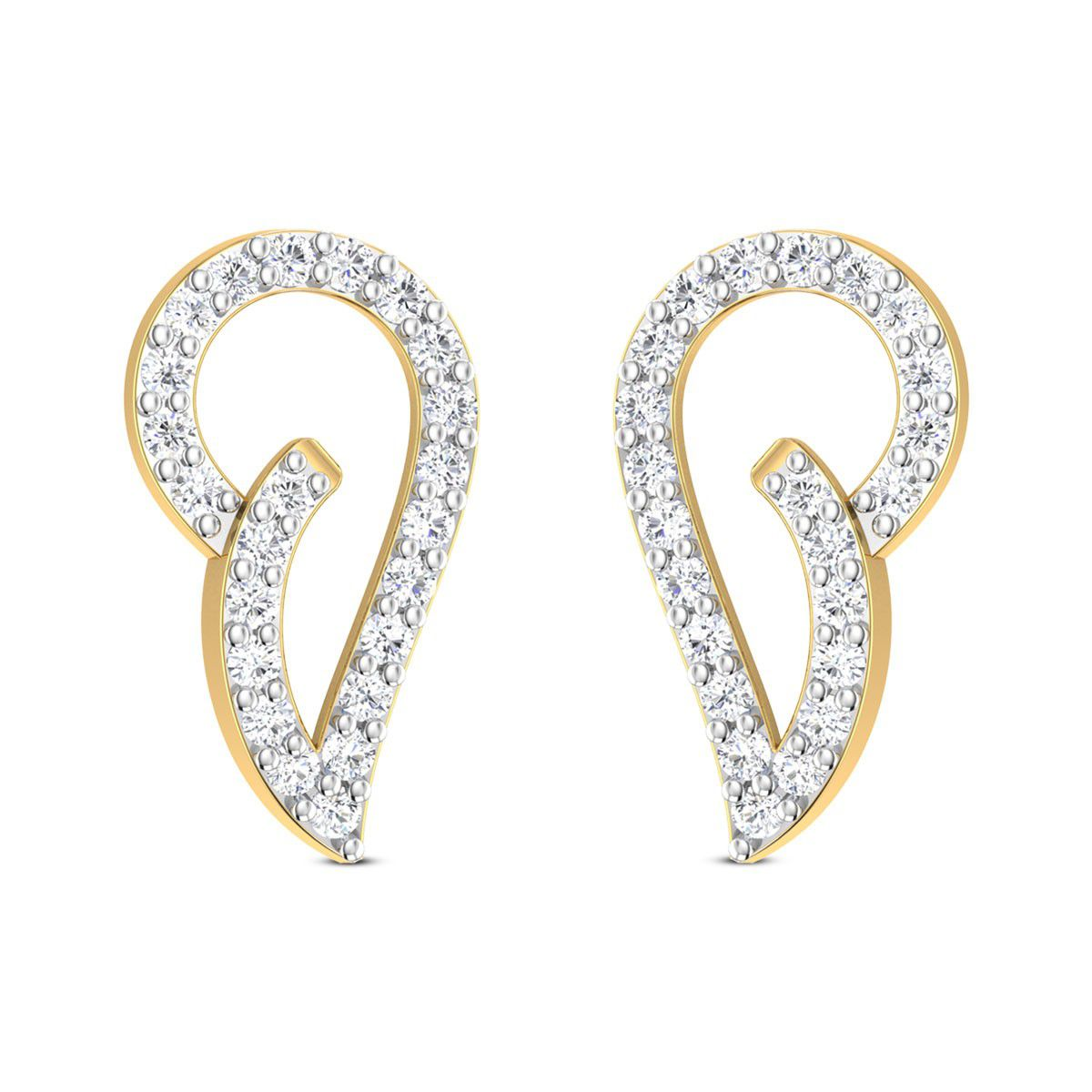 Zaamor Diamonds 18k BIS Hallmarked Yellow Gold Diamond Studs