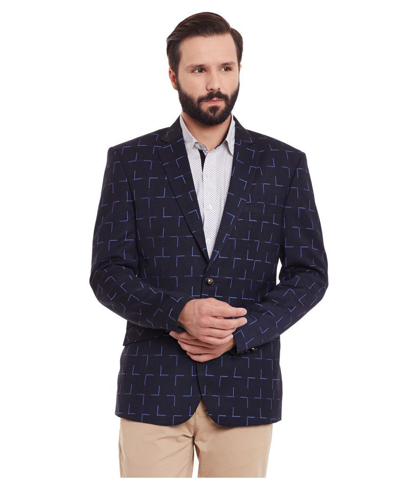 Canary London Black Printed Casual Blazers