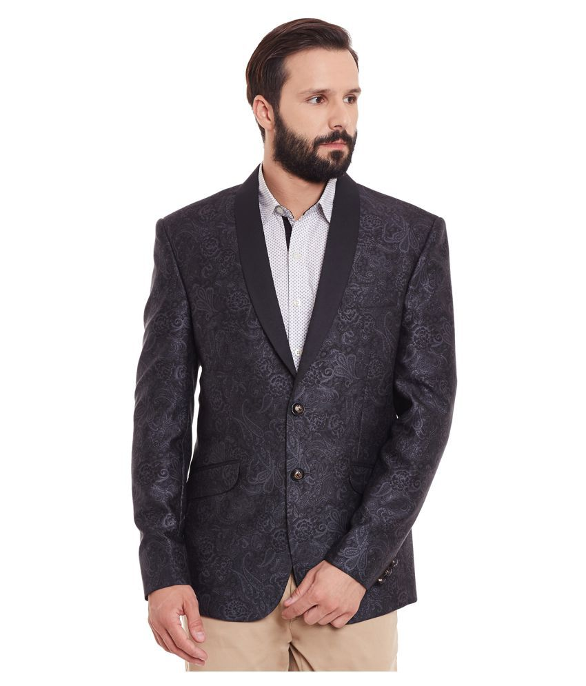 Canary London Grey Printed Party Blazers