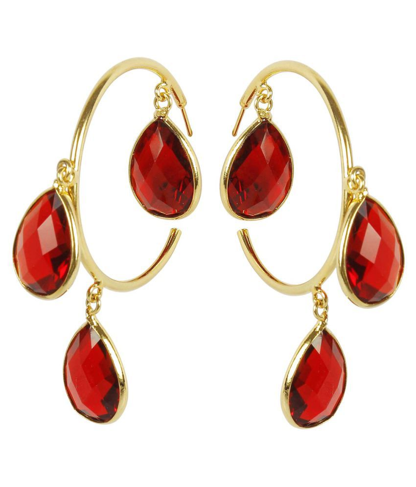 rahul accessories wear by work popli crystal enamel online pid carma products indian amethyst studded gold plated designer earrings