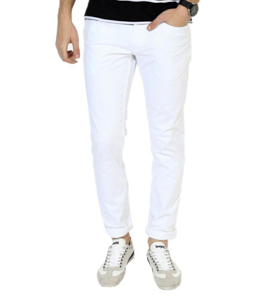 Lawson White Skinny Solid Jeans