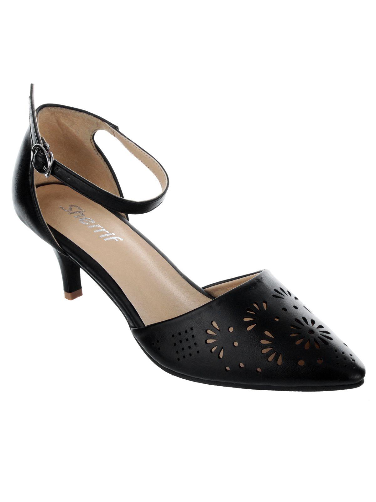 bc8083ab6db Sherrif Shoes Black Kitten Heels Price in India- Buy Sherrif Shoes Black Kitten  Heels Online at Snapdeal
