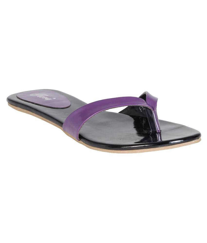 Flora Purple Slippers