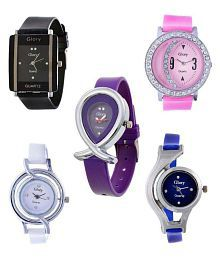 infinity enterprise combo of 5 multicolour analog watch for women