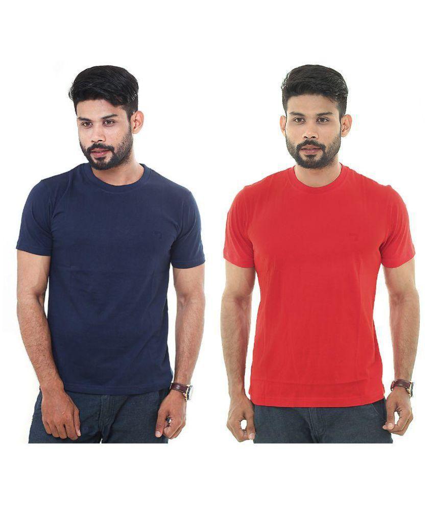 Descript Multi Round T-Shirt Pack of 2