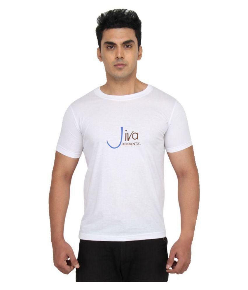 Jiva White Round T-Shirt