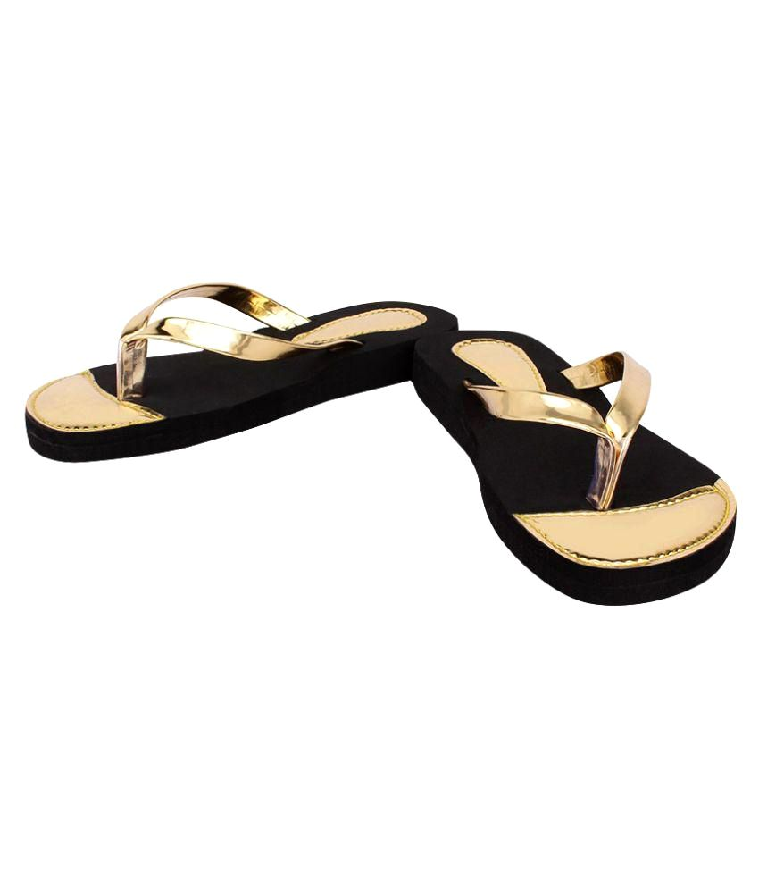 Sindrella Steps Gold Slippers