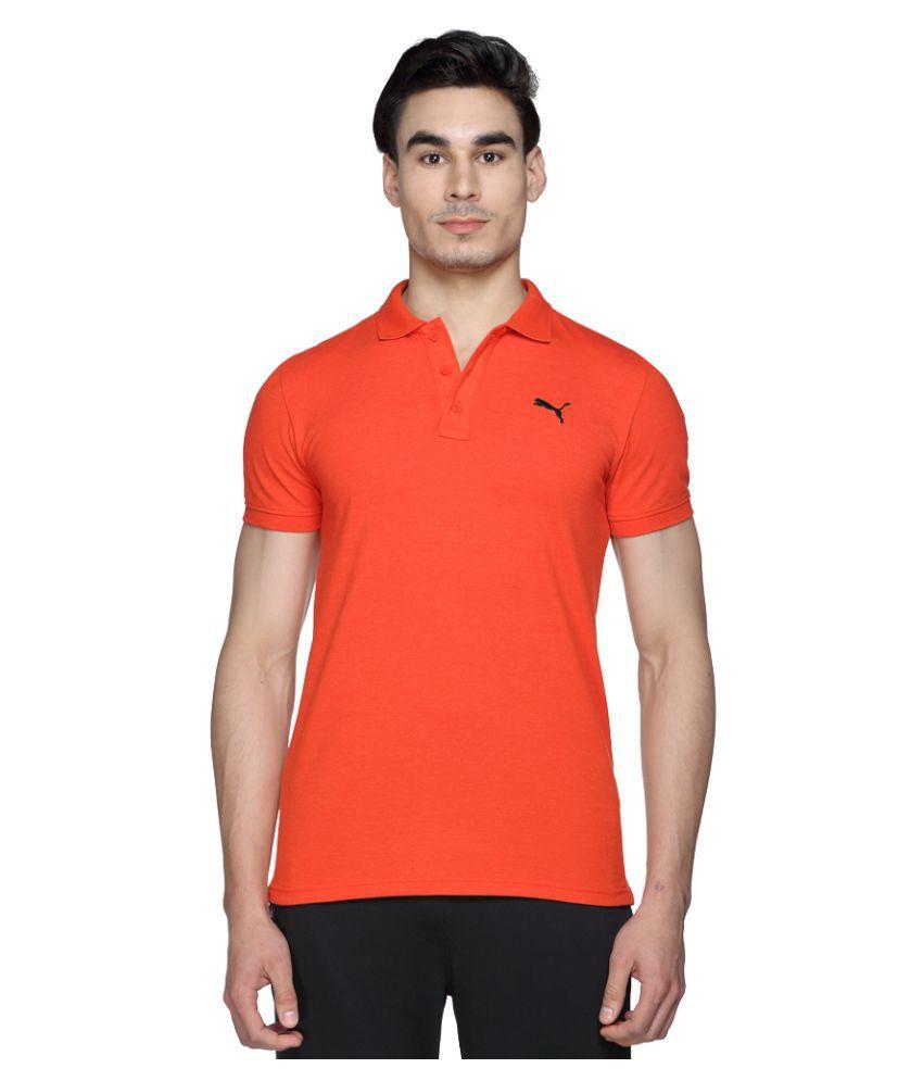 Puma Orange Slim Fit Polo T Shirt