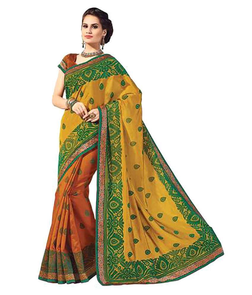 Rajshri Fashions Multicoloured Silk Saree
