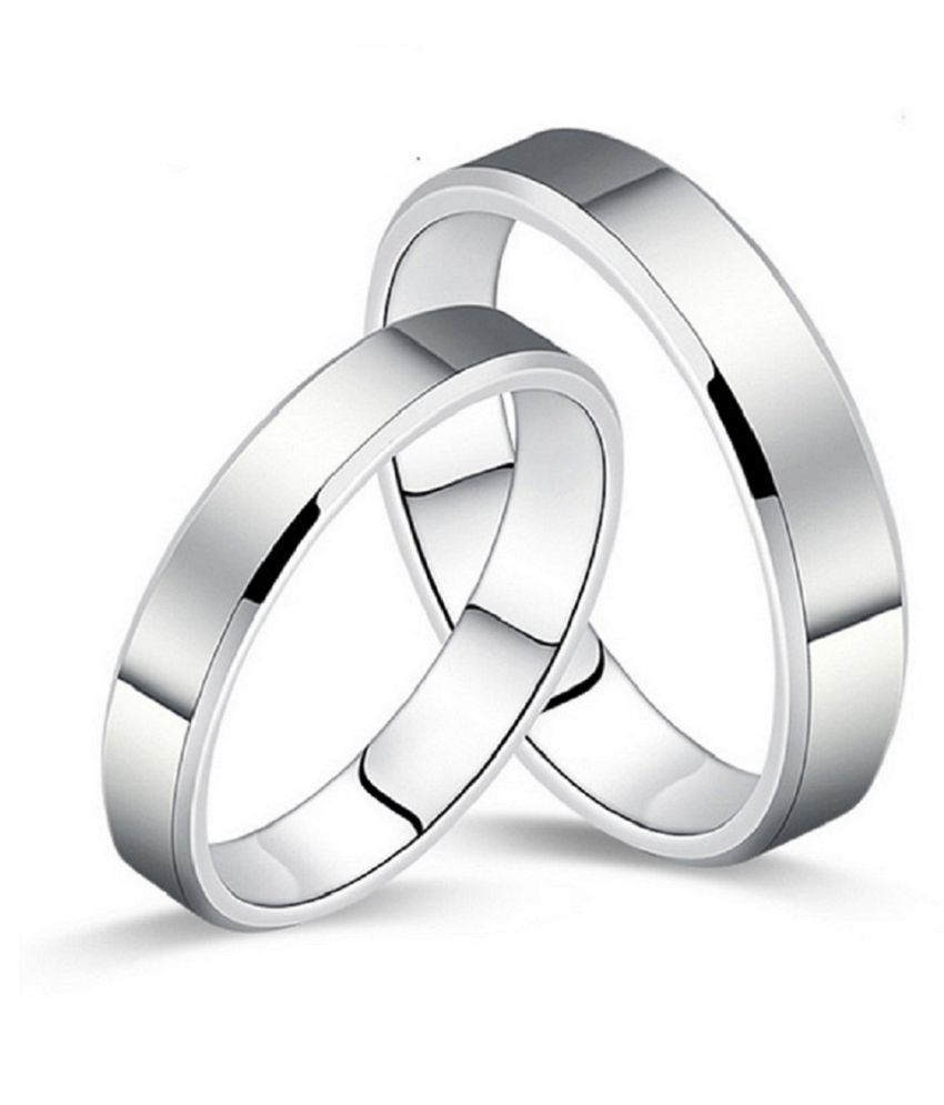 37631ffc3a Aaishwarya Stainless Steel Couple Rings: Buy Aaishwarya Stainless Steel Couple  Rings Online in India on Snapdeal