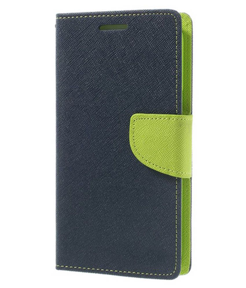 Micromax Canvas Doodle 3 A102 Flip Cover by TIPTOP - Blue