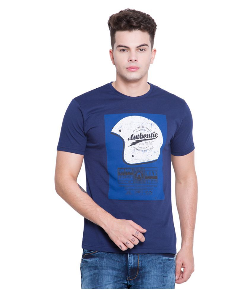 Locomotive Navy Round T-Shirt