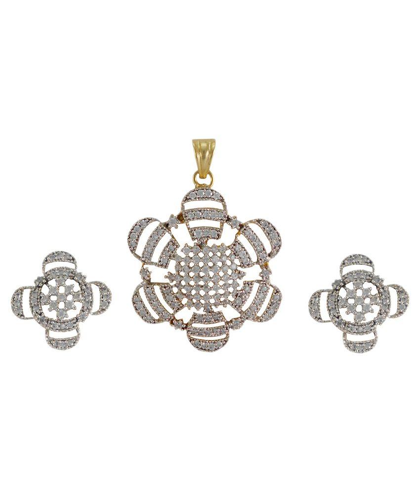 Rejewel Silver Pendant Set