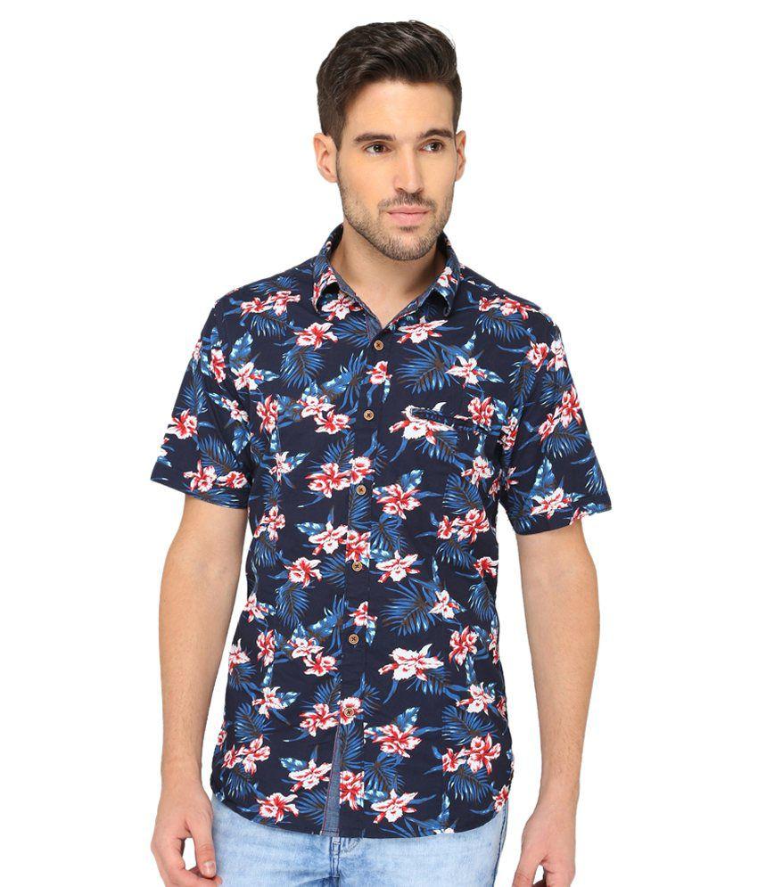 Greenfibre Blue Casuals Slim Fit Shirt Single