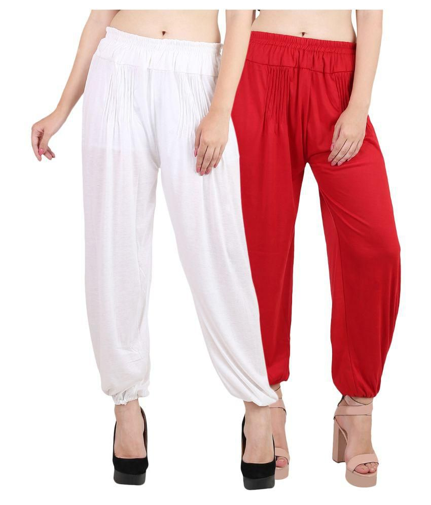 0e84f9edcd Buy Kannan Red Cotton Lycra Harem/Patiala Online at Best Prices in India -  Snapdeal