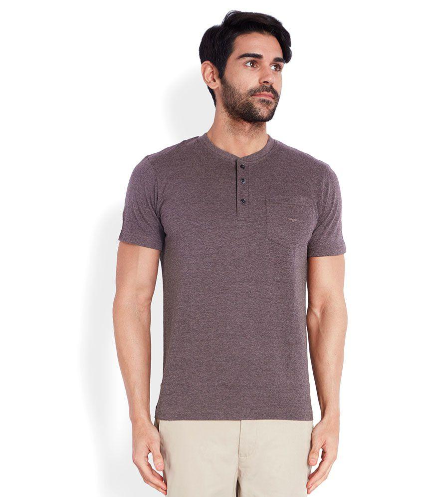 Park Avenue Brown Henley T-Shirt