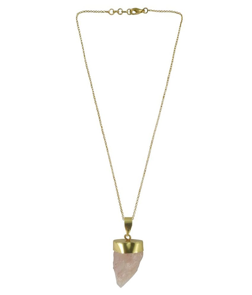 Rejewel 22kt Gold Plated Semi Precious Stone Pendant