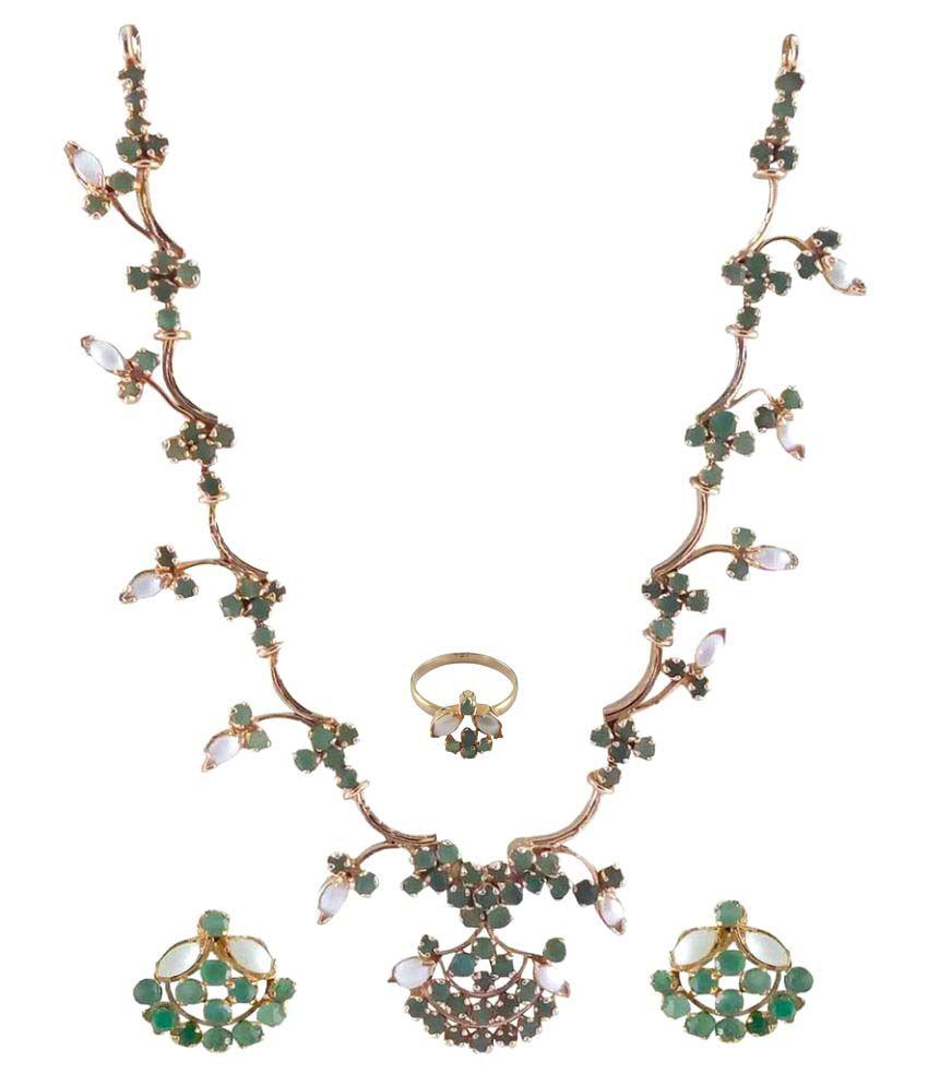 Rejewel Multicolur Alloy Necklace Set