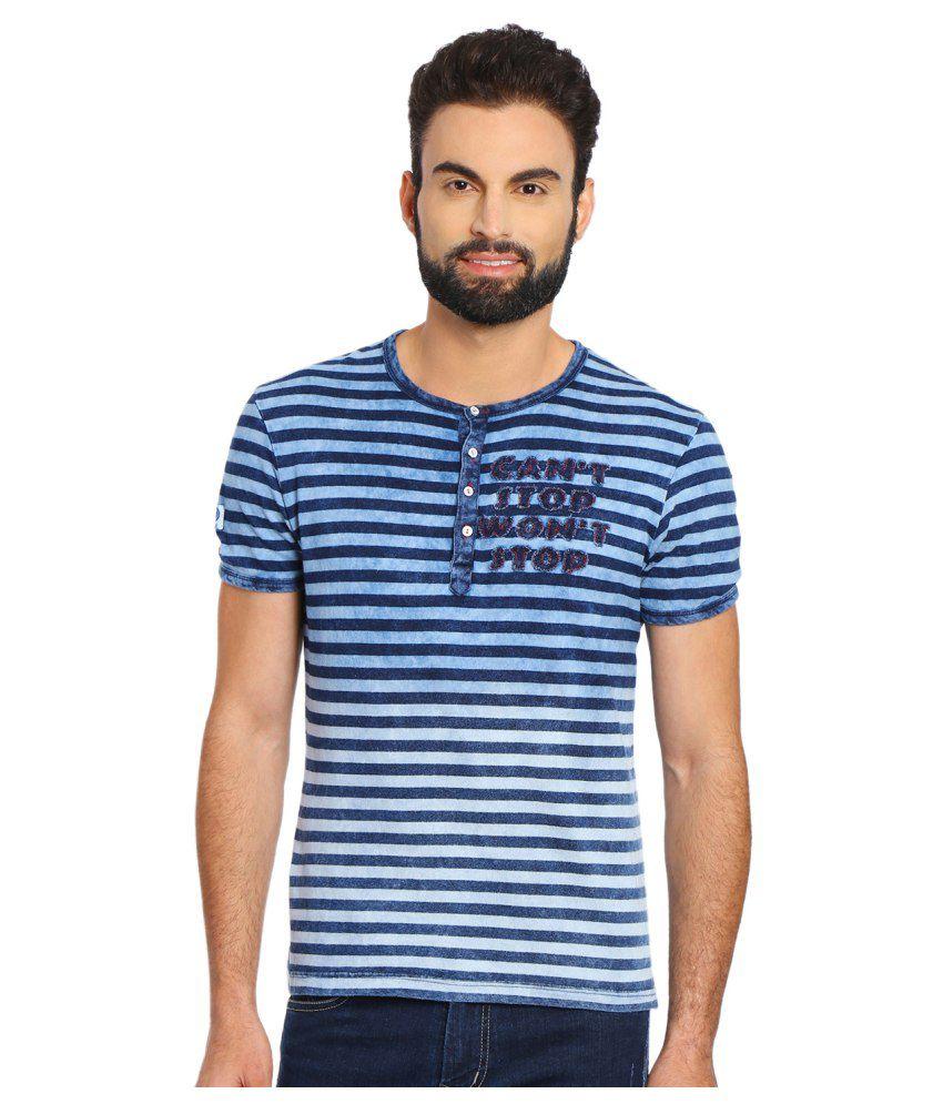 Yoo Blue Henley T-Shirt