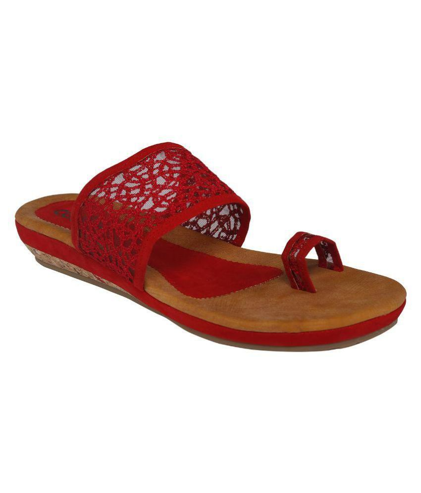 Cocoon Red Slippers