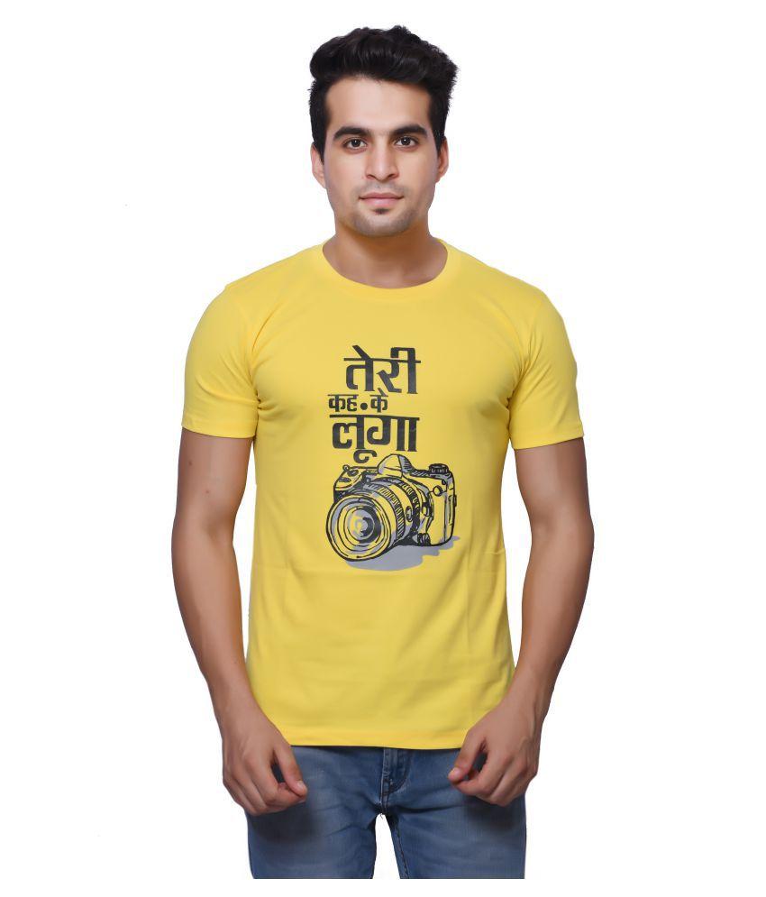 Oneliner Yellow Round T-Shirt