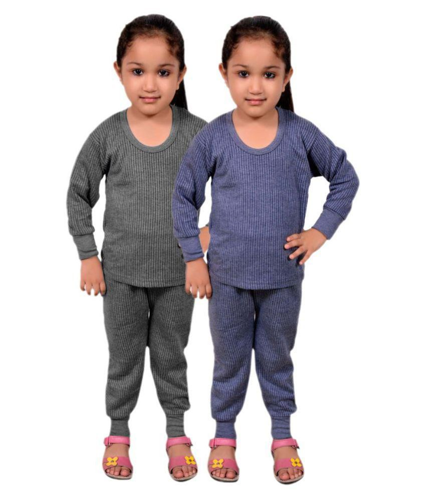 ce8f9b065 Redfort Multicolour Cotton Blend Thermal - Set of 2 - Buy Redfort  Multicolour Cotton Blend Thermal - Set of 2 Online at Low Price - Snapdeal