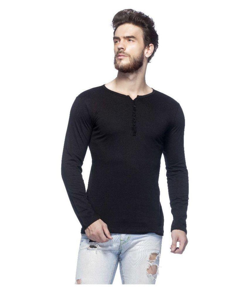 Tinted Black Henley T-Shirt