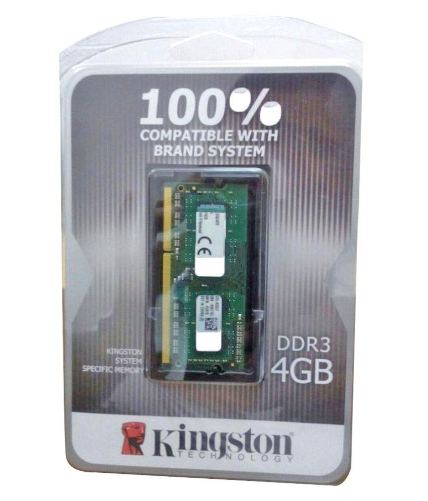 Kingston kcp3l16ss8/4fr 4 GB DDR3 RAM