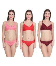Ansh Fashion Wear Pink Cotton Lycra T-Shirt/ Seamless Bra