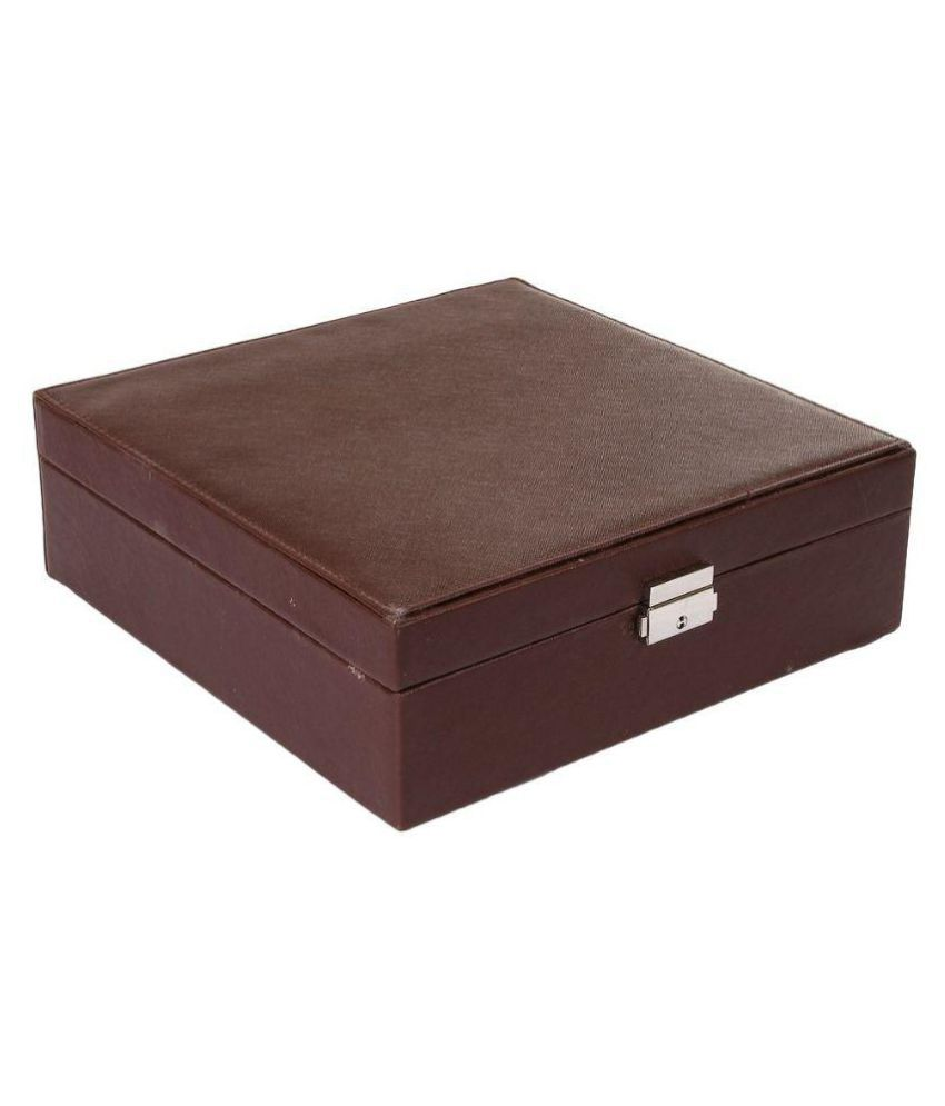 UberLyfe Leather Jewellery Box