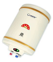 Ovastar 10 Ltr Ltr Electric Water Heater Oweg-3912 Storage Geysers Ivory