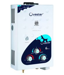 Ovastar 6 Ltr Ltr Gas Water Heater Owgg-3318 Instant Geysers White Blue