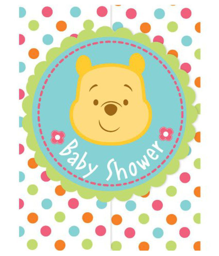 Winnie the Pooh Baby Shower Invitations (8) Invites Cards Disney ...