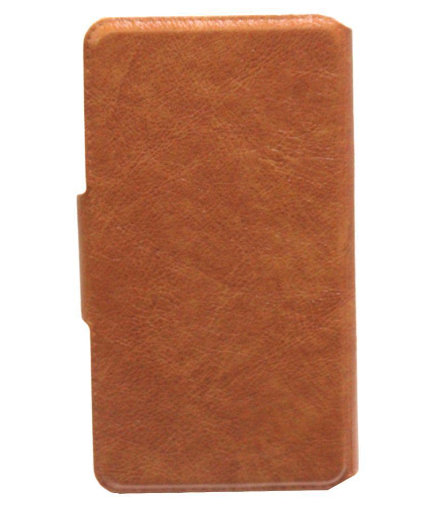 Gionee Ctrl V5 Flip Cover by Jojo - Brown