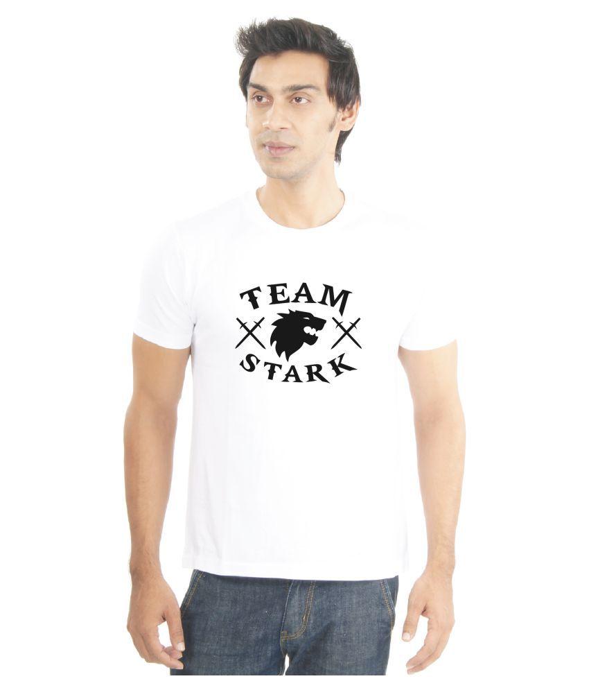 La Game of Thrones White Round T-Shirt