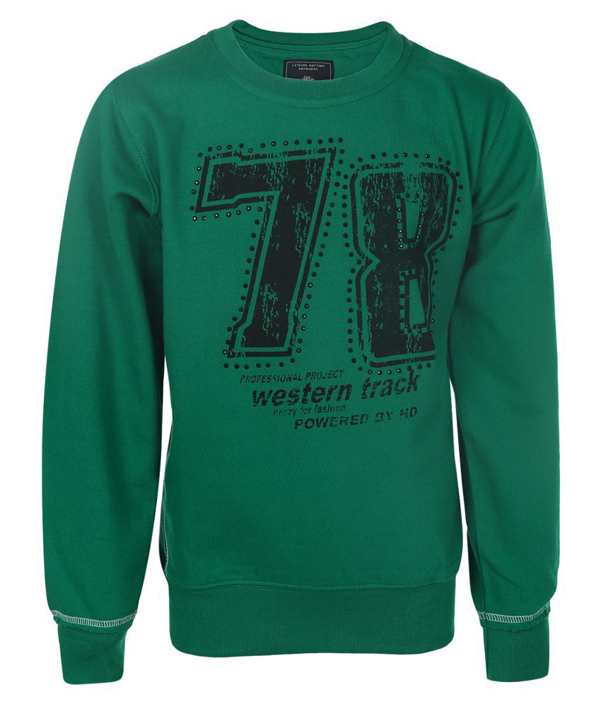 Haig-Dot Green Fleece Sweatshirt