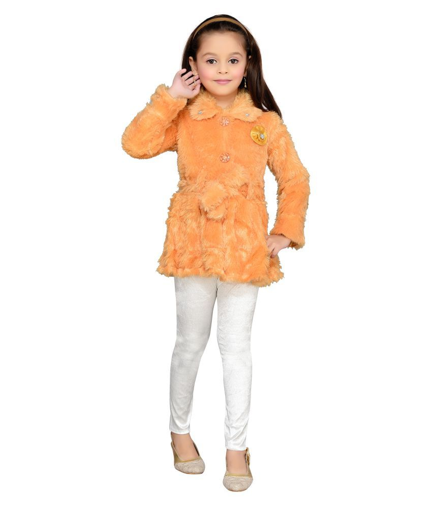 Aarika Orange Nylon Jacket with Leggings